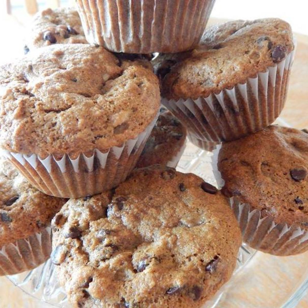 Red Fife Banana Chocolate Chip Muffins | Anita's Organic Mill