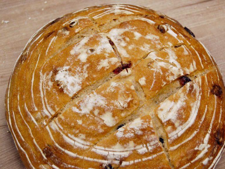 Rye Bread with Cranberries, Pecans & Lemon | Anita's Organic Mill