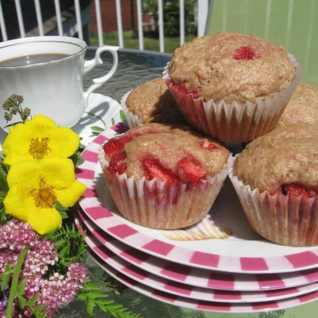 Strawberry Muffins | Anita's Organic Mill