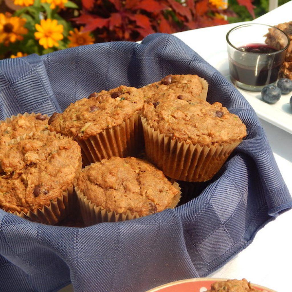 Zucchini & Chocolate Chip Einkorn Muffins | Anita's Organic Mill