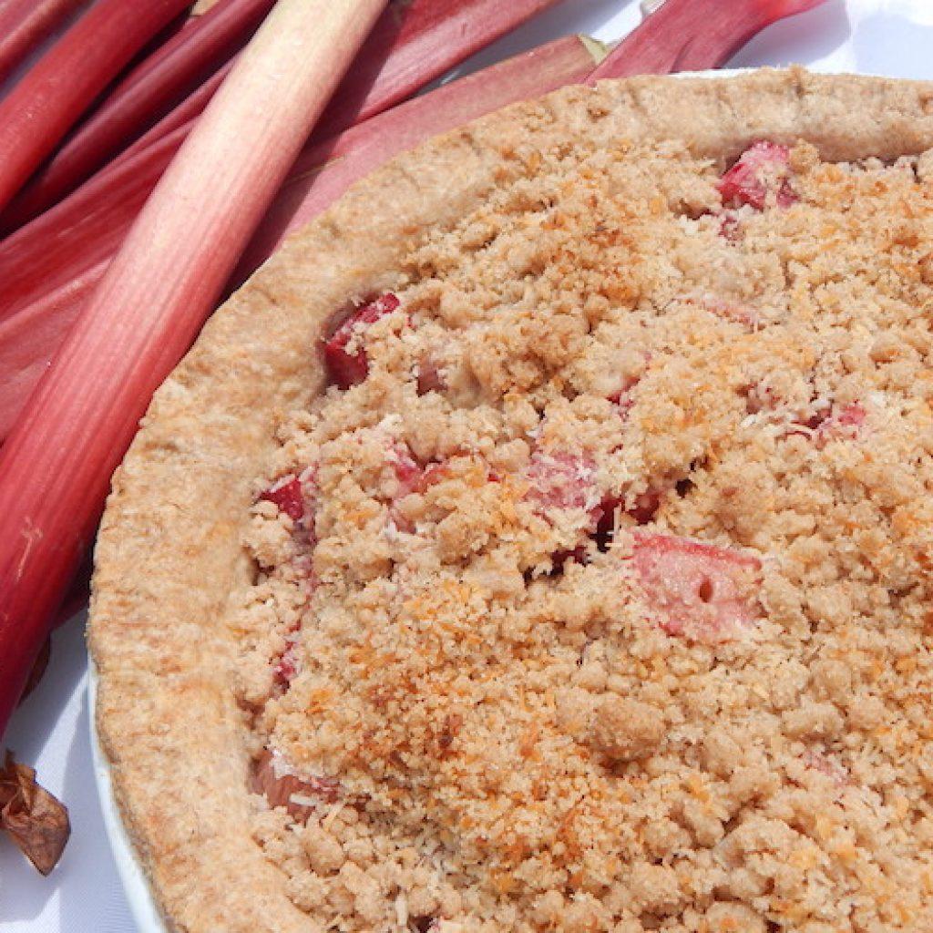 Rhubarb Crumble Pie   Anita's Organic Mill