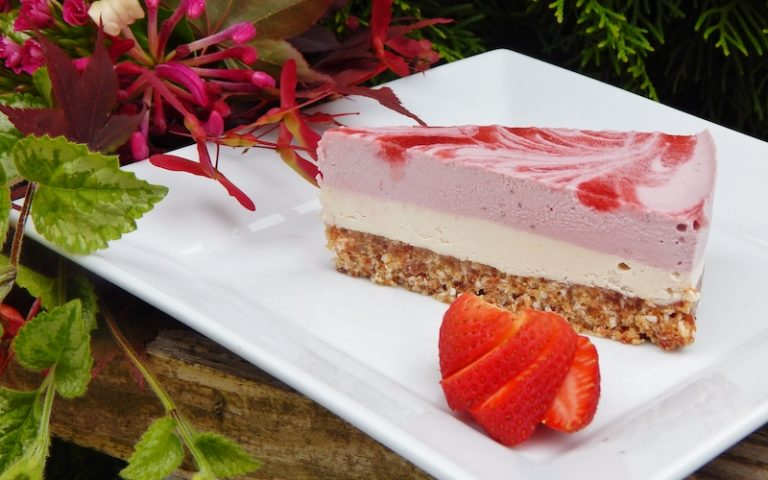 Strawberry Swirl Cheesecake | Anita's Organic Mill