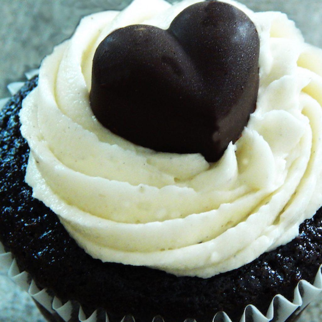 Chocolate Vanilla Cupcakes   Anita's Organic Mill