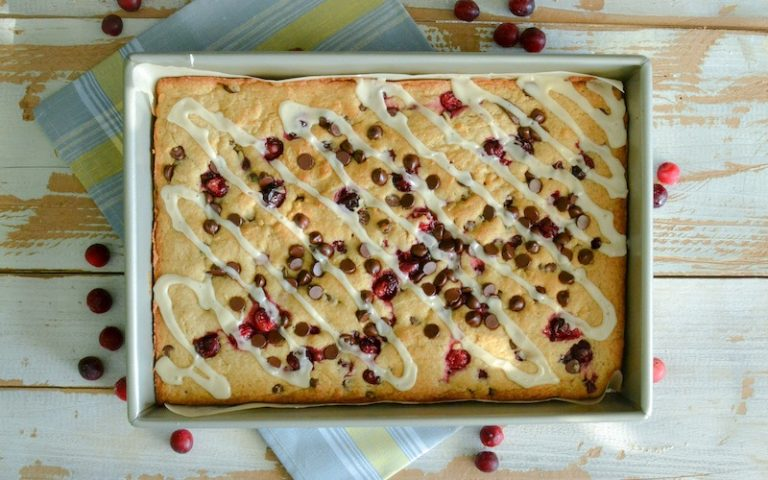Cranberry Chocolate Blondies | Anita's Organic Mill