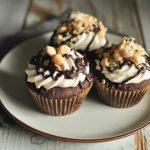 Gluten Free Vegan Double Chocolate & Vanilla Hazelnut Cupcakes | Anita's Organic