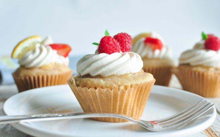 Gluten Free Vegan Lemon Scented Cupcakes with Lemon Curd & Lemon Frosting | Anita's Organic