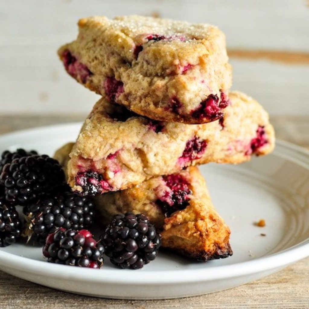 Blackberry Walnut Einkorn Scones | Anita's Organic
