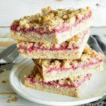 Chewy Oatmeal & Strawberry Bars
