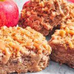 Caramel Apple Crumble Slices