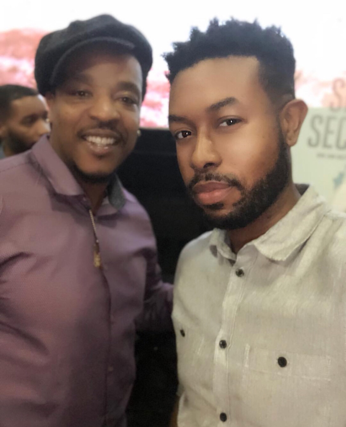 """Michael """"Hey Mikey"""" Fanning and Russell Hornsby at Seven Seconds screening at AMC Phopps Plaza in Atlanta, GA"""