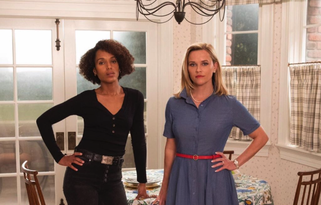 kerry washington and reese witherspoon little fires everywhere on hulu
