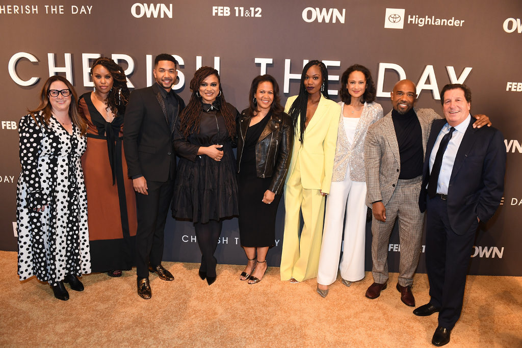 cast of cherish the day launch party event atlanta