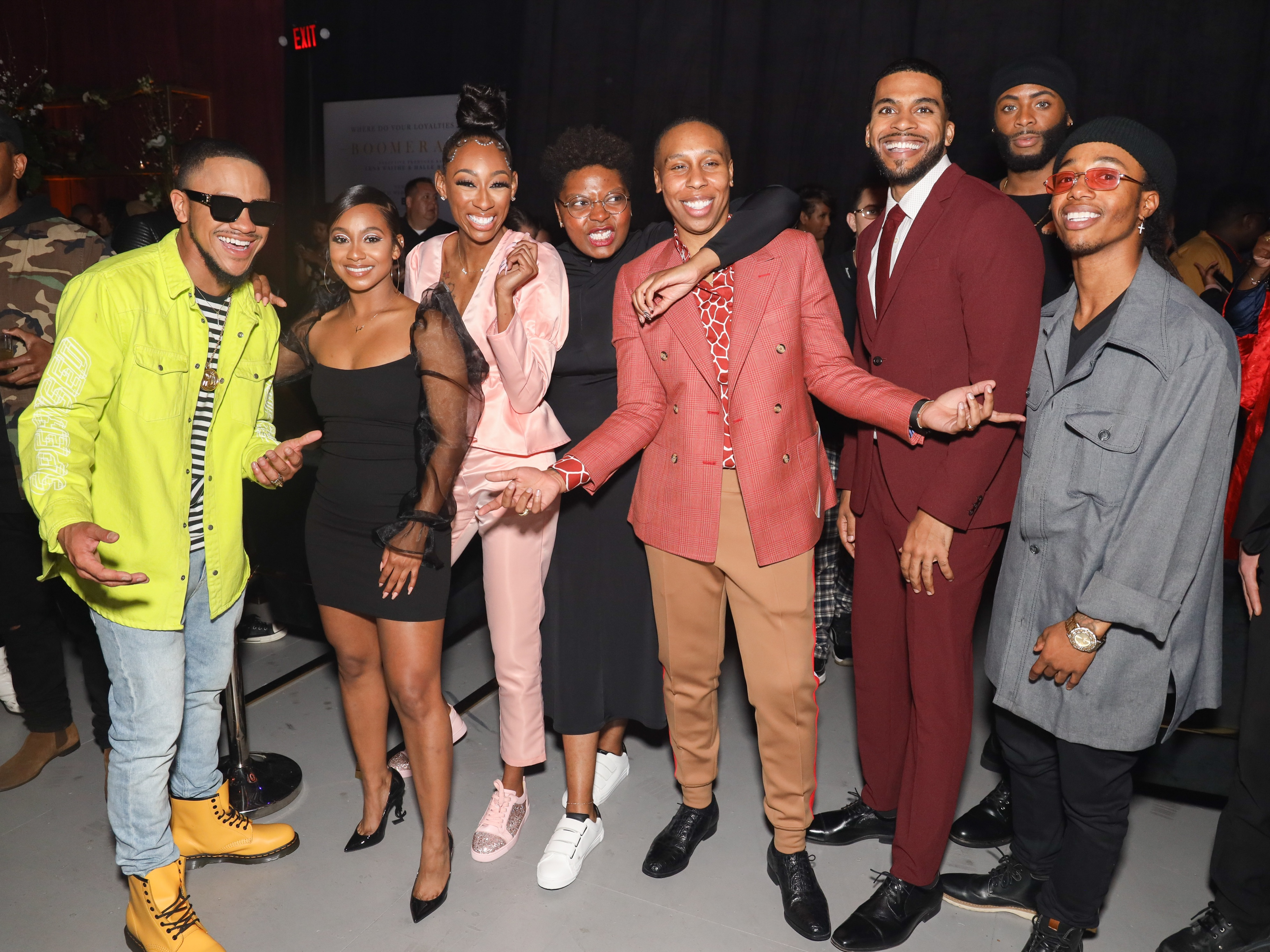 the cast of boomerang on bet season 2 premiere party at paramount studios