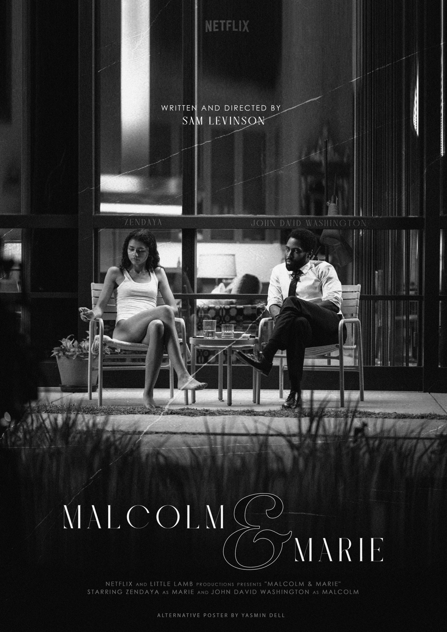 malcolm and marie movie poster netflix
