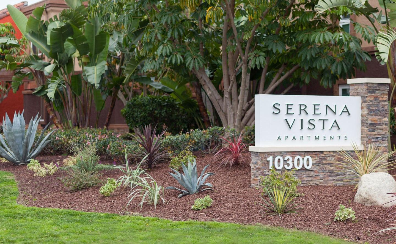 Serena vista apartments sign monument