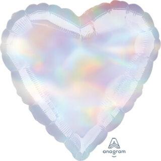 iridescent heart balloon
