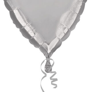 metallic silver heart balloon