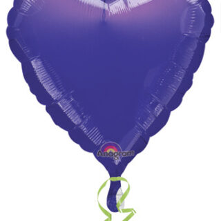 purple foil heart balloon