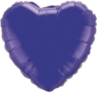 purple quartz heart balloon
