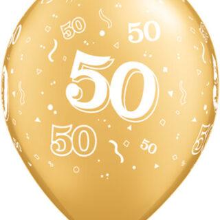 gold 50th anniversary balloon