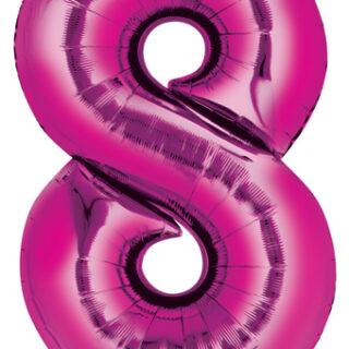 pink eight balloon