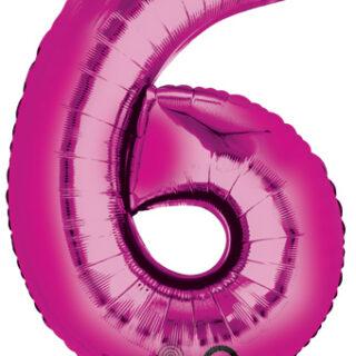 pink six balloon