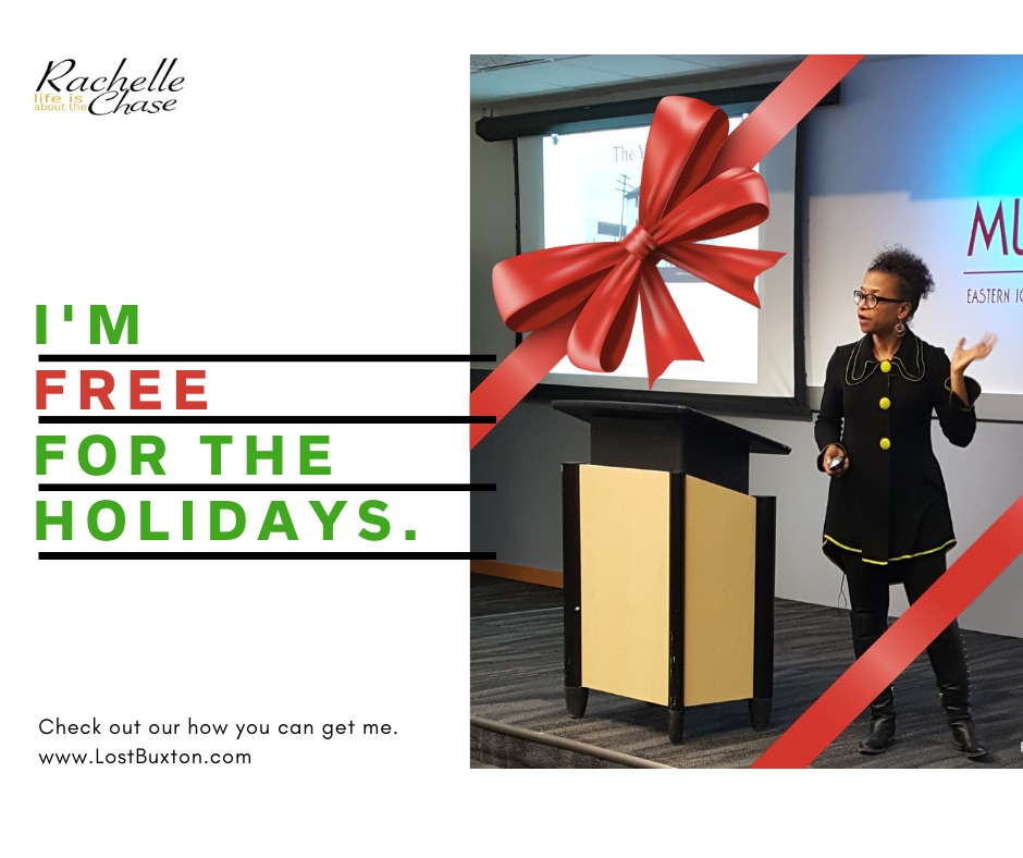 Rachelle's Free for the Holidays ad