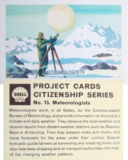 ADVERTISING Card, Shell Oil