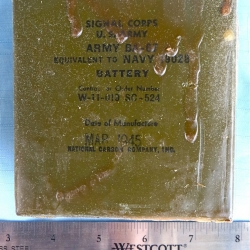 BATTERY: BA-67 (Navy 19028), National Carbon Company Inc., from AN/AMQ-1