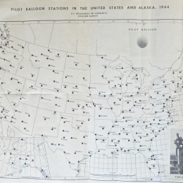 CHART: Pilot Balloon Stations, US & Alaska, 1944