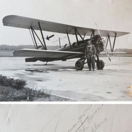 1931--Ralph Wensinger, Weather Bureau Pilot w/Plane Cleveland OH