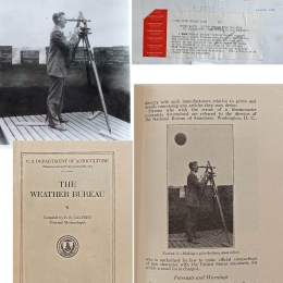 1931 circa --Tracking Pilot Balloon With a Theodolite