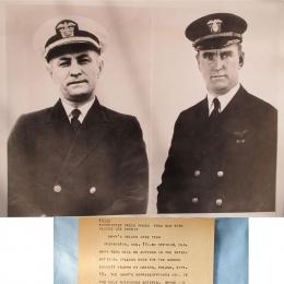 1935-- Howard T. Orville (left) and Raymond F. Tyler, Navy Balloon Race Team