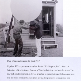 1937--NBS Radiometeorograph Launch Wash. DC