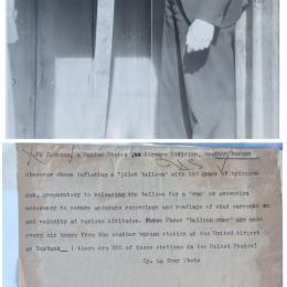 1938 - Pilot balloon inflation - Burbank CA