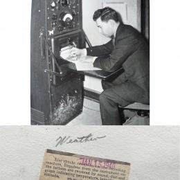 1940--Checking WB Recorder for Reception Joliet IL