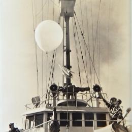 1940/1942-Launching Radiosonde from USS Duane, mid-Atlantic