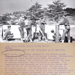 1941--Army Pilot Balloon Launch Fort Meade MD