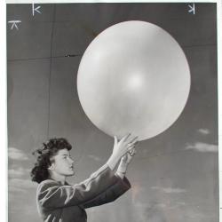 1945--Woman Meteorological Aide Releases Pilot Balloon, Detroit MI