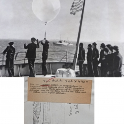 1946--Radiosonde Launch at Sea