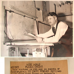 1948--Dr. Krick with Meteorological Charts