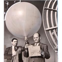 1950 circa--Howard T. Orville with Radiosonde.