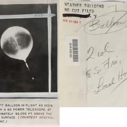 1954--72.8-Foot Balloon At 92,000 Feet, Probably Minnesota