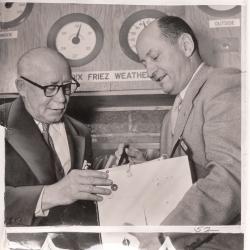 1954--Howard T. Orville (right) Explaining Radiosonde, Probably Baltimore
