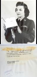 1955--Women in the Air Force (WAF) Staff Sergeant Martha N. Williams Displays Radiosonde, Washington, DC