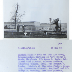 1955-11-16 Army Radiosonde Launch, Fort Meade, MD