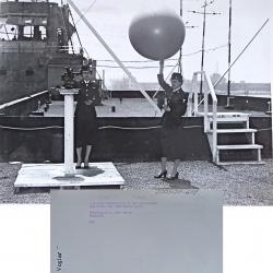 1956--WAVEs Launching Pilot Balloon