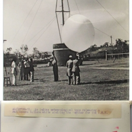 1957- Indian Meteorological Team Launching Radiosonde
