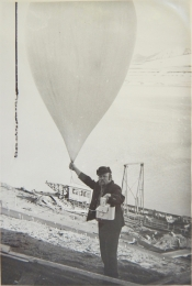 1976 circa--Radiosonde Release, Barentsburg, Norway