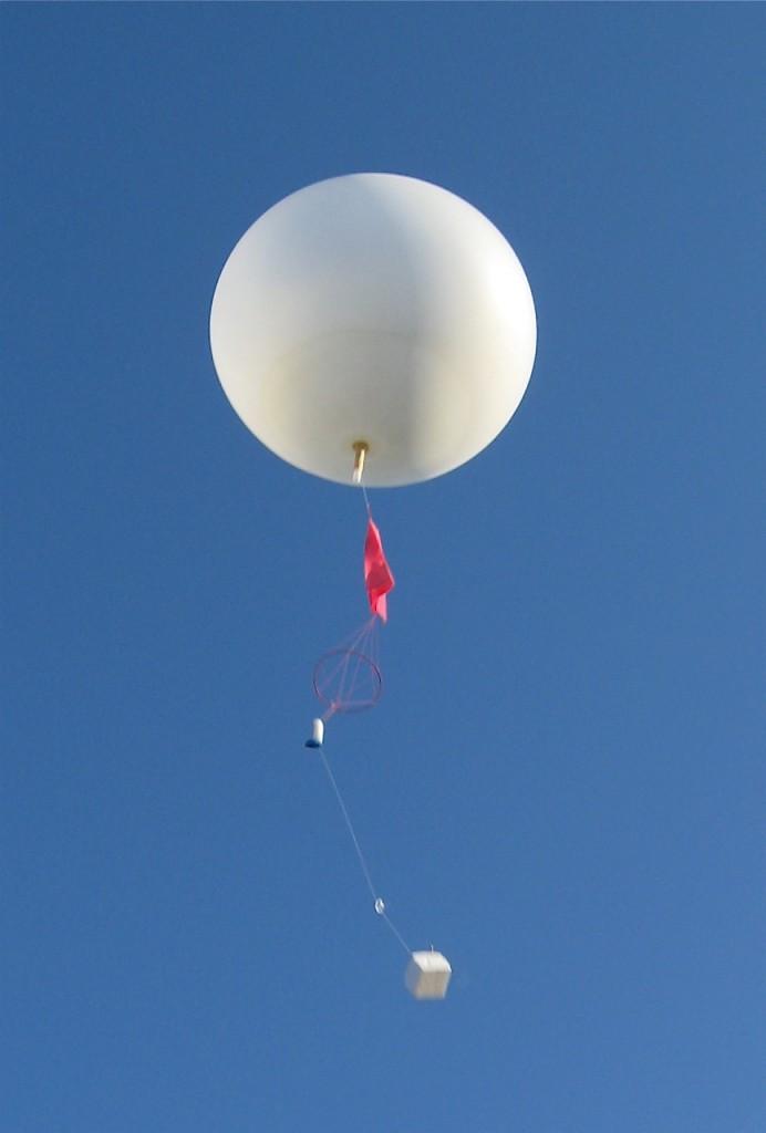 radiosonde and helium baloon